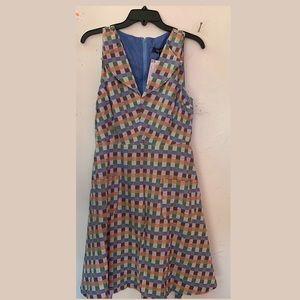 MODCLOTH FUNKY BLUE VINTAGE INSPIRED DRESS